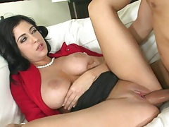 Big tits milf Jada fucked upskirt with no underwear