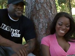 Ebony Candace Nicole outdoor in the park public