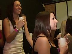 Girls enjoying a nice coed hardcore spring break party