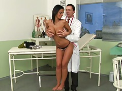 Angelika going down for her doctors cock