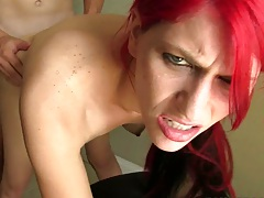 Big mouthfuls with super hto red head