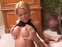 Big tits blonde Faith Grant sits on guys face and sucks his dick