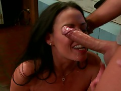 Titty fucking from busty milf vanilla on the floor