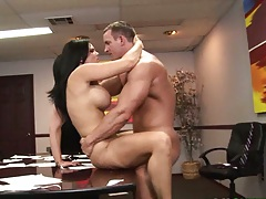 Big tits Mackenzee Pierce gets fucked from front on desk