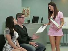 Doctor visit with sexy nurse Aleksa Nicole