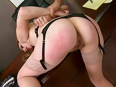 Rough sex punishment for Lexi doggy style