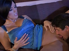 Pussy licking Dylan Ryder and titty fucking with reverse cowgirl sex