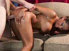 Priya gets faced pushed into the sofa