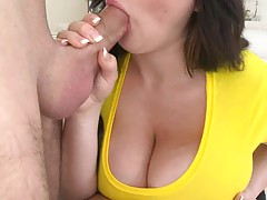 Beverly Paige gets her big tits full of oil