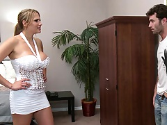Big tits investment broker Alanah Rae punished for