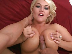 Amaizing blowjob and titty fuck with big juicy tits