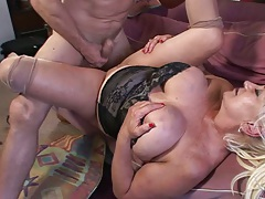 Nice sex with mature mom in lingerie Dana Hayes