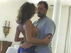 Big tits Leanna Heart comes on to guy and moves down to suck his dick