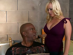 Milf pulls out a big black cock