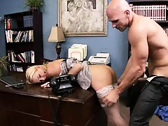 Blake pumped her pussy hard and fast in office
