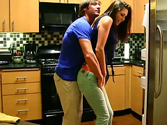 Hot amateur gf Anna M. in her clothes gets touched