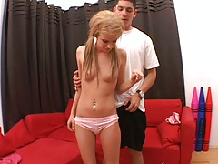 Petite and young blonde teen Cameron in first sex video audition