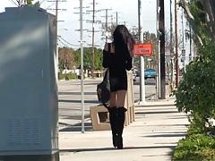 Outdoor public violation with Diana Prince