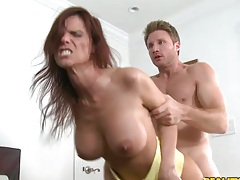 Doggy style fast and rough penetration with milf