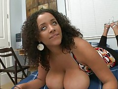 Big natural tits exposed and squeezed