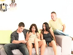 Kourtney Kane in a hot brunette trio