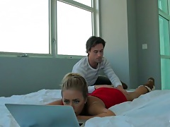 Teen gf Jennifer A. doing her homework and making out