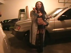 Teen gf in the underground garage