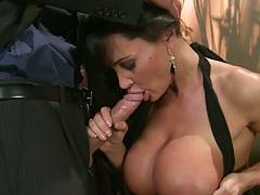 Frisky couple with a horny big tits house wife milf