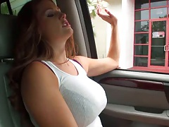 A trashy whore going for a drive