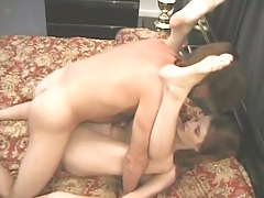 Mature redhead mommy Annable Saint great legs up fuck