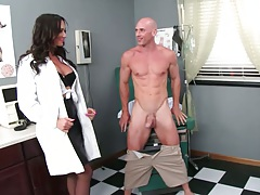 Doctor visit with Destiny Dixon giving blowjob in uniform