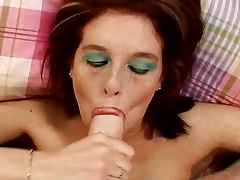 Blowjob and licking balls with stroking Jordan Ashley