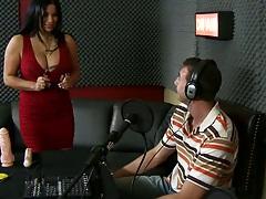 Sophia Lomeli at the radio station