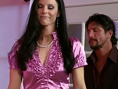 Ally Kay and India Summer threesome blowjob and ass fingering