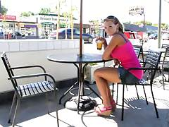 Blowjob fridays with sexy babe outdoors Nikki Sexx