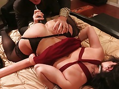 Sex toy pulled aside panties play around with Kendra Lust