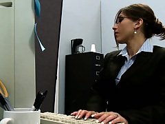 Big tits at work Alexis is jealous of Rachel