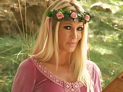 Outdoors with jessica drake reading a fairy tale porn story