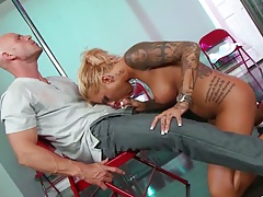 Milf blowjob with tattoo Britney Shannon