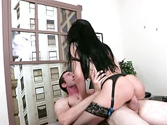 Office sex with brunette big tits Rebeca sitting on dick