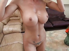 Big tits milf pov blowjob and balls lick