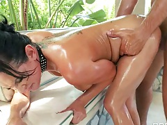 Doggy style rough anal sex with Tory Lane self ass fingering and pov suck