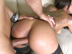 Leilani moans while doggy fucked n cumshot on ass