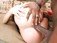 Sideways anal interracial penetration for Chelsie Rae and a2m deepthroat