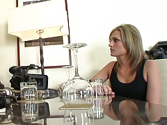 Fully clothed cheating wife milf Mimi Allen has a drink