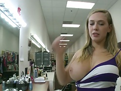 Big tits Kagney Linn Karter going for a nice wet pov blowjob