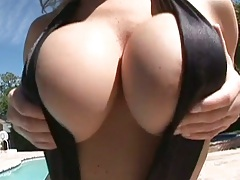 Huge natural tits outdoors licking and playing around Velicity Von