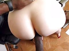 Interracial doggy style with shaved pussy milf Sadie