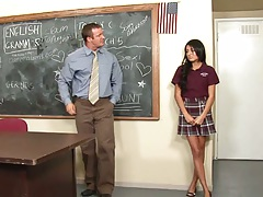 Shy teen Lexi Diamond comes to teacher with pussy problem