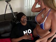 White bikini girl Richelle Ryan longing for black meat